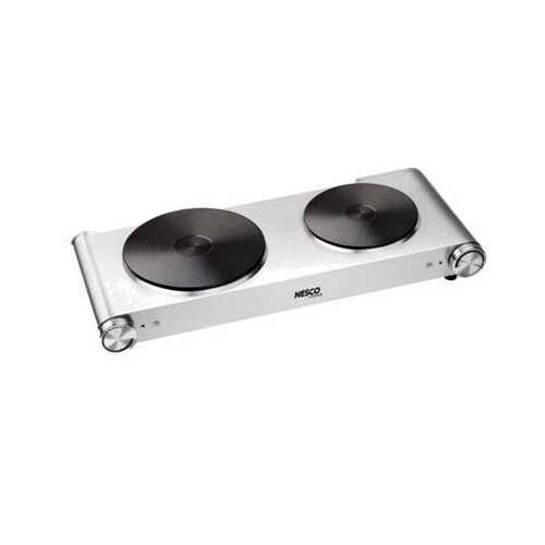 Nesco SS 1800w Double Burner
