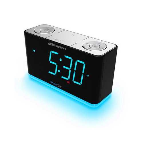 SmartSet Alarm Clock Black Slv