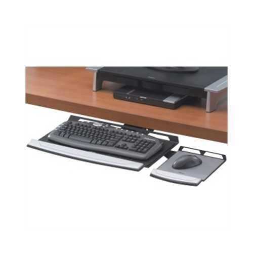 Keyboard Tray Black Silver