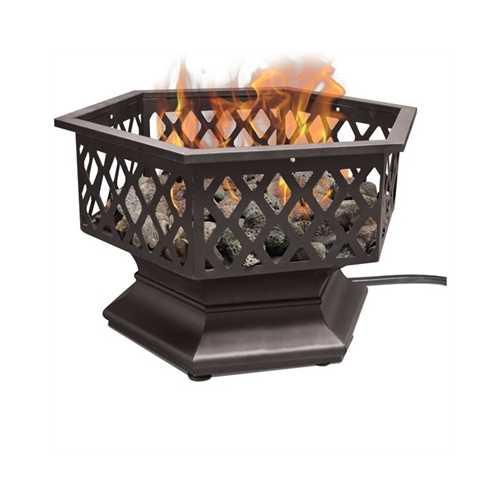 Hexagon Outdoor Gas Firepit