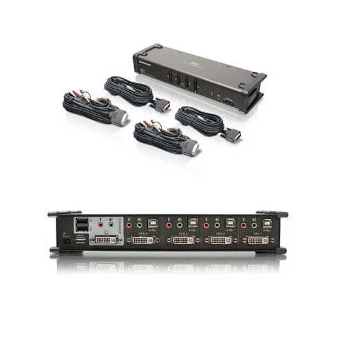 4 Port DVI Kvmp Swtch Audio Cb