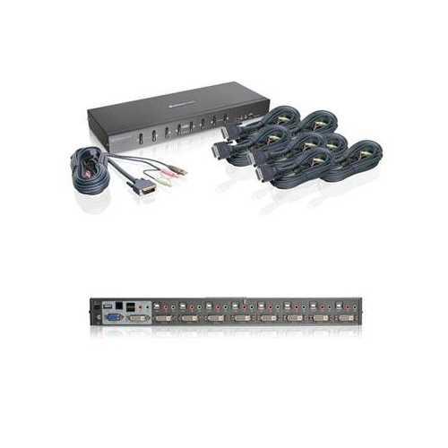 8 Port Dual Link DVI KVM Kit