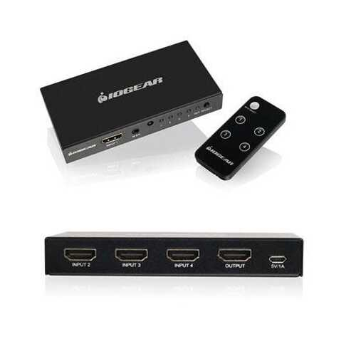 4port4k HDMI Switch And Remote