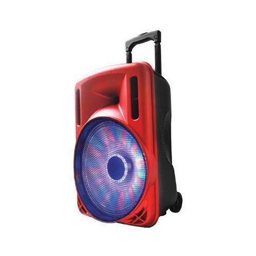 "12"" Portable Bluetooth DJ Speaker Red"