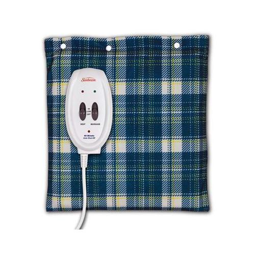Sunbeam Heating Pad Blue Plaid