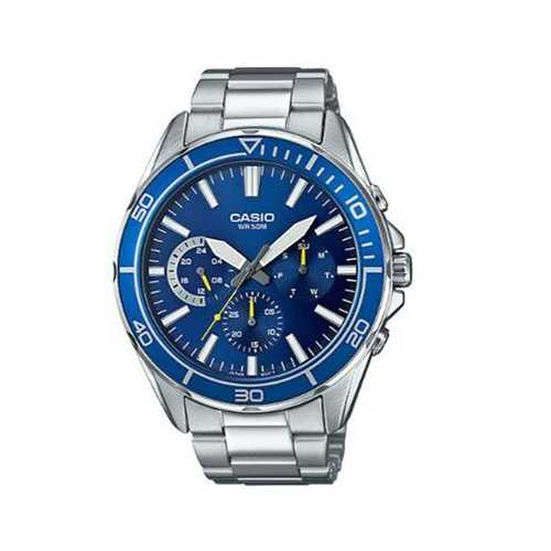 Diver Analog Watch Slvr Blue