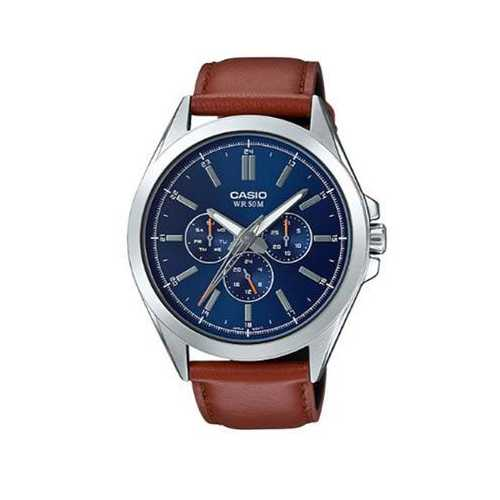 Analog Watch Brown Leather