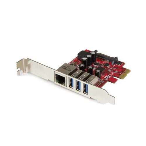 3 Port Pcie USB 3.0 Card Gbe