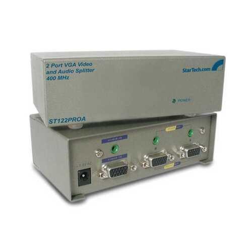 2Port Audio VGA Video Splitter