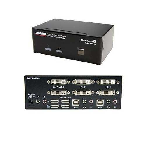 2 Port Dual DVI USB Kvm Switch