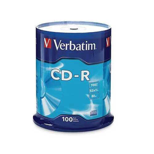 CD R 80MIN 700MB 52X to 100PK