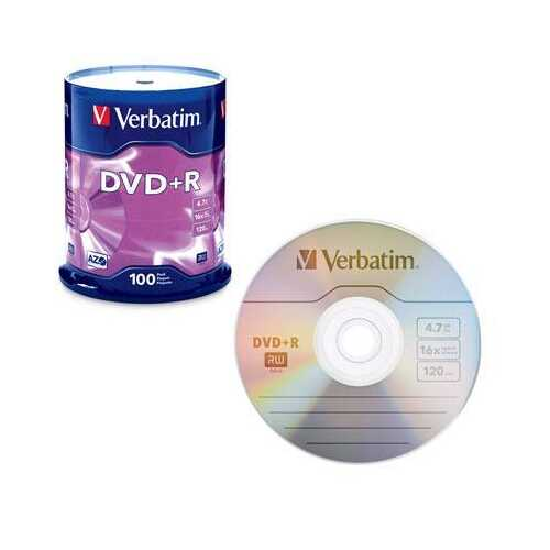 DVD+R 4.7GB 16x 100 Pack
