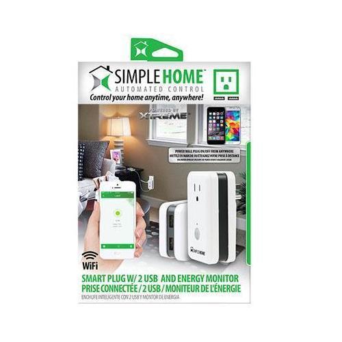Wifi Wall Plug With Energy 2 Usb