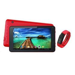 "7"" Tablet And Red Fitband"