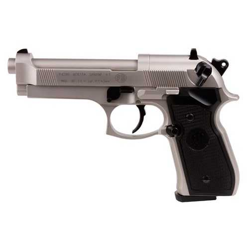 Beretta 92FS, Nickel, Black Grips