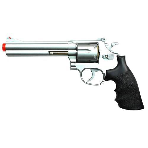 "TSD Sports Spring Revolver - 6"" Barrel, Silver/Black"