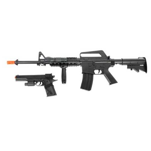 Colt M4 On Duty Spring Airsoft Kit, Black