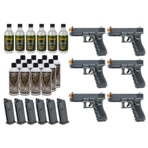 6 Umarex Elite Force Glock G17 Gen4 GBB Airsoft Pistol Kits