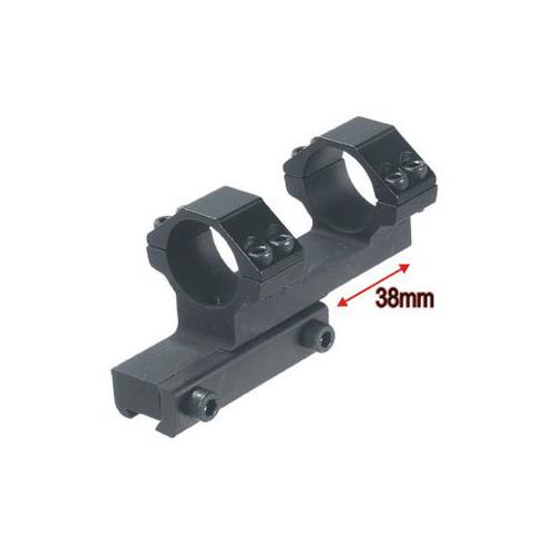 """Leapers Accushot 1-Pc Bi-directional Offset Mount w/1"""" Rings, High, 11mm Dovetail"""