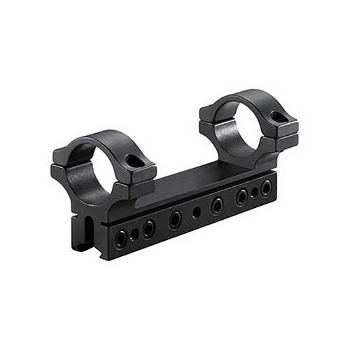 "BKL 1-Pc Mount, 4"" Long, 1"" Rings, 3/8"" or 11mm Dovetail, 6 Base Screws, Matte Black"