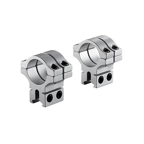 "BKL 30mm Rings, 3/8"" or 11mm Dovetail, Double Strap, Silver"