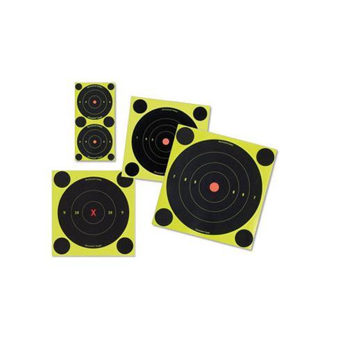 "Birchwood Casey Shoot-N-C 6"" Targets, 12 Bullseye Targets, 48 Pasters"