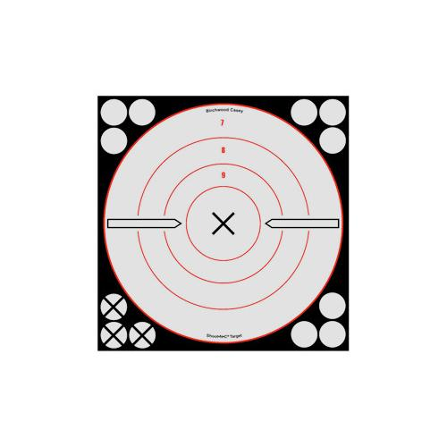 "Birchwood Casey Shoot-N-C White/Black Bullseye X Targets & Pasters, 8"", 6ct"