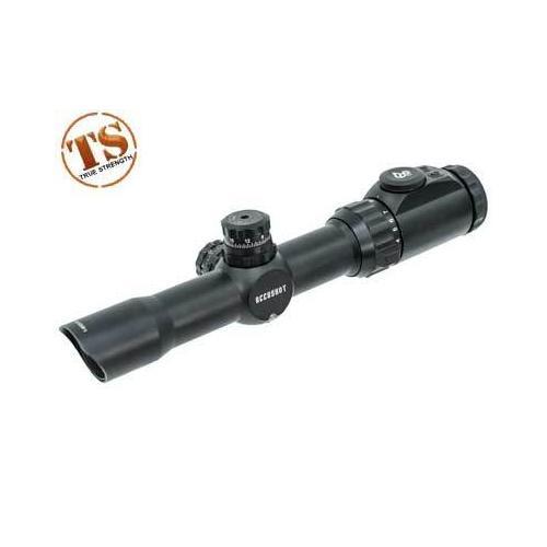 Leapers UTG Accushot 1-8x28 Multi-Range CQB Rifle Scope, EZ-TAP, Illuminated Mil-Dot Reticle, 1/2 MOA, 30mm Tube