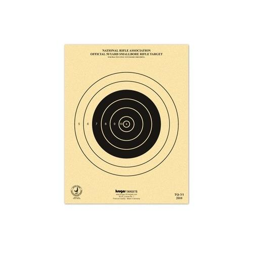 "Kruger NRA 50 yd Smallbore Rifle Target, 7""x9"", 100ct"