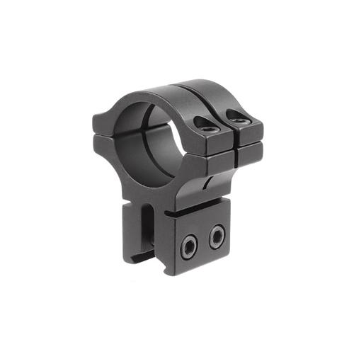 """BKL Single 1"""" Double Strap Ring, 3/8"""" or 11mm Dovetail, 1"""" Long, Black"""