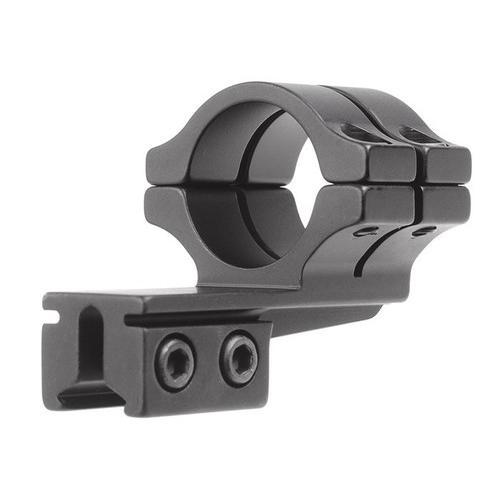 "BKL Single 1"" Double Strap Offset Ring, 3/8"" or 11mm Dovetail, 1"" Long, Medium, Black"