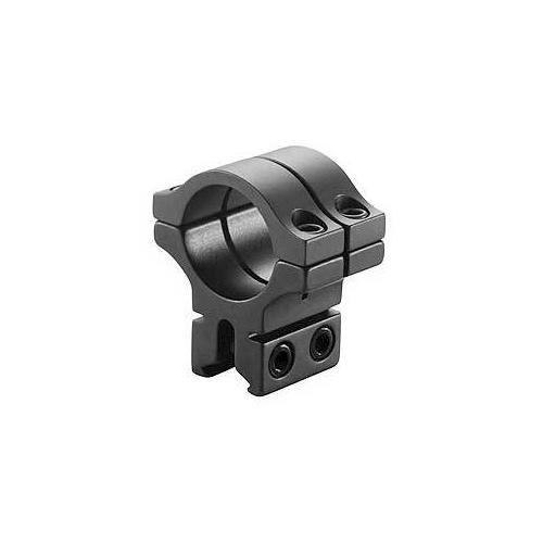 """BKL Single 30mm Double Strap Ring, 3/8"""" or 11mm Dovetail, 1"""" Long, Black"""