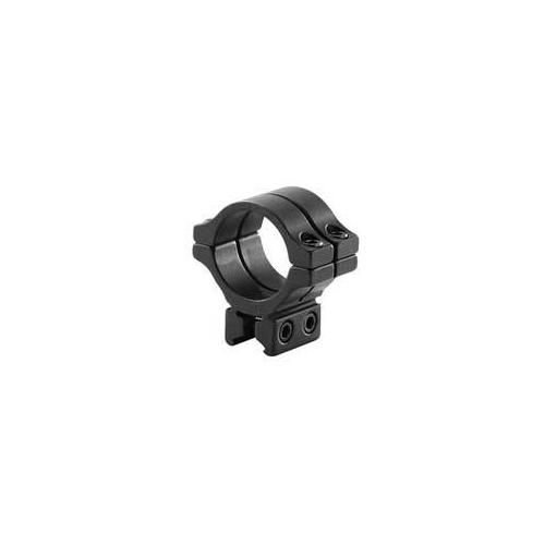 """BKL Single 30mm Double Strap Ring, 3/8"""" or 11mm Dovetail, 1"""" Long, Low, Black"""