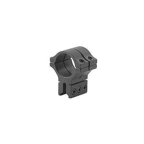 """BKL Single 30mm Double Strap Ring, 3/8"""" or 11mm Dovetail, 1.263"""" Long, Black"""