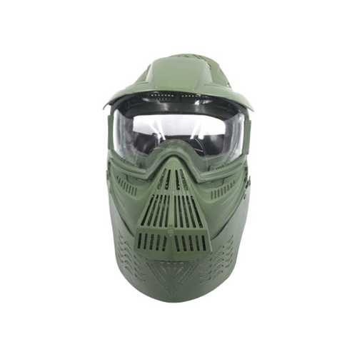 Bravo Airsoft Full Face Mask with Poly Lens in OD