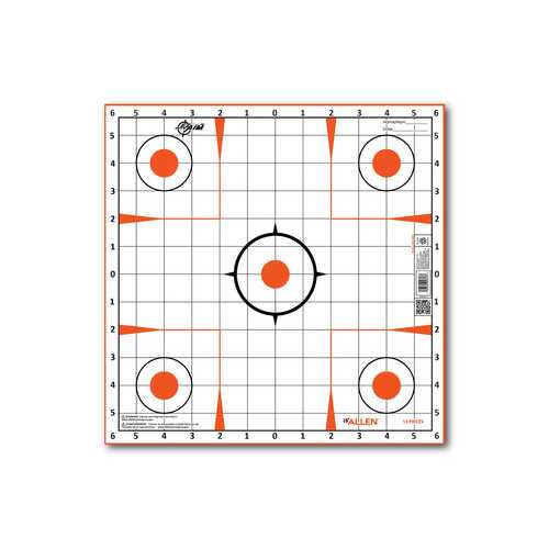 "Allen Company EZ Aim Sight-In Grid Target, 12""x12"", 12-pack"