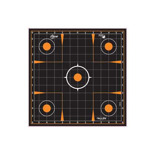 "Allen Company EZ Aim Splash Sight-In Grid Target, 12""x12"", 5-pack"