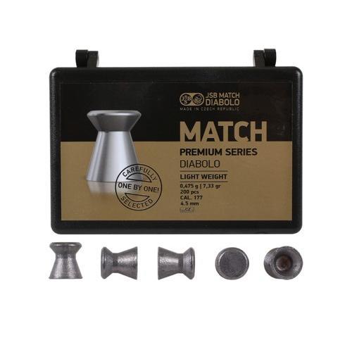 JSB Match Premium Light, .177 Cal, 7.33 Grains, Wadcutter, 200ct