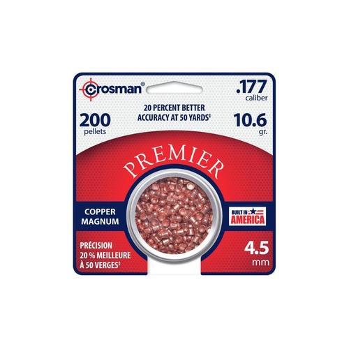 Crosman Premier Copper Magnum .177 Cal, 10.6 Grains, Domed, 200ct