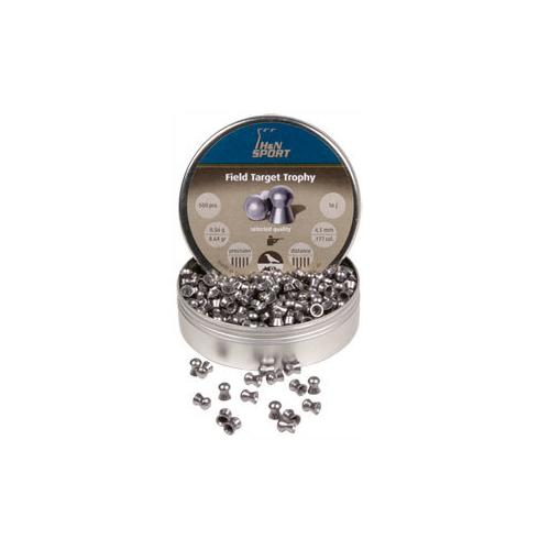 H&N Field Target Trophy, .177 Cal, 4.52mm, 8.64 Grains, Round Nose, 500ct