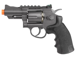"Black Ops / WG Metal CO2 Airsoft Revolver, Black, 2.5"""