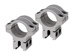 """BKL 1"""" Rings, 3/8"""" or 11mm Dovetail, Double Strap, Silver"""