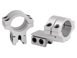 """BKL 1"""" Rings, 3/8"""" or 11mm Dovetail, Double Strap, Offset, Silver"""