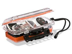 "Plano Guide Series Waterproof Case, 9"", Orange/Clear"