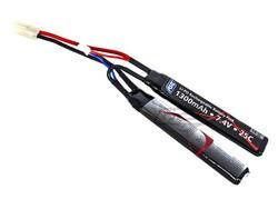 ASG 7.4v 1300mAh 2s 20C LiPO Split Battery