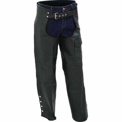 Solid Genuine Buffalo Leather Motorcycle Chaps