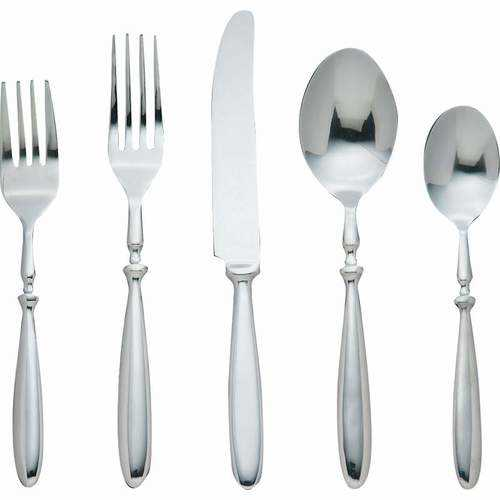 """""""Bistro"""" 20pc Forged 18/8 Stainless Steel Flatware Set"""