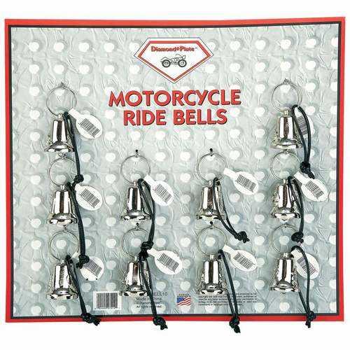 10pc Motorcycle Bells on Display Card