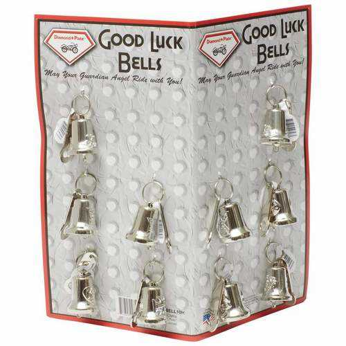 10pc Motorcycle Bells with Hangers on Display Card