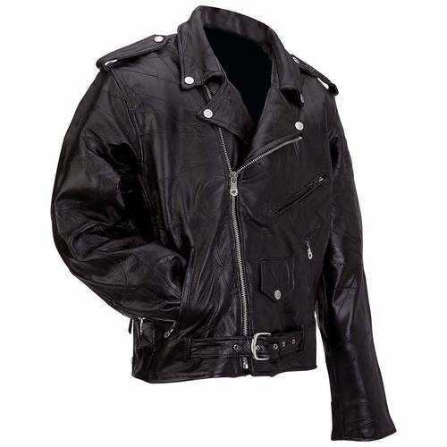 Genuine Buffalo Leather Motorcycle Jacket
